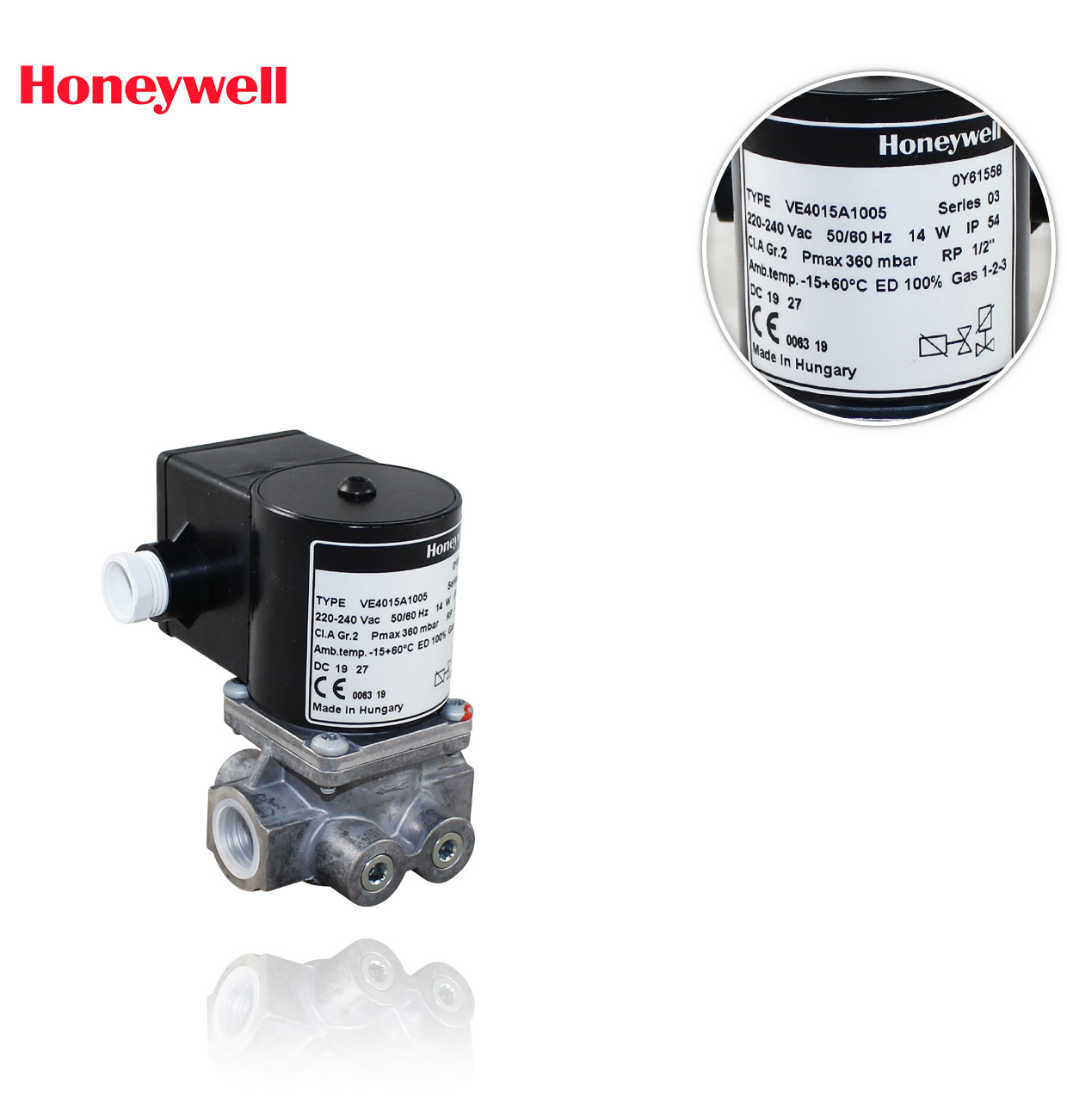 "VE 4015 A 1005 R1/2"" 360mbar. ELECTROVALVULA HONEYWELL"